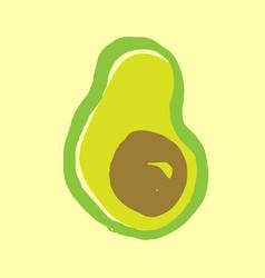 avocado grunge icon vector image