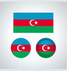 azerbaijan trio flags vector image
