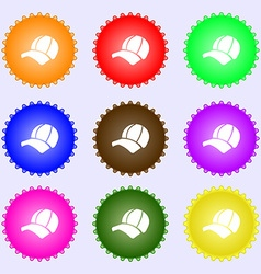 Ball cap icon sign Big set of colorful diverse vector image