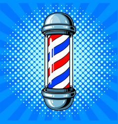 Barber sign pop art style vector