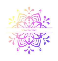 beautiful colour mandala stock vector image