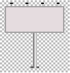 blank big billboard blank outdoor billboard with vector image