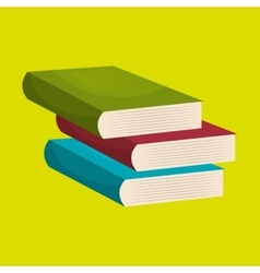 books isolated icon design vector image