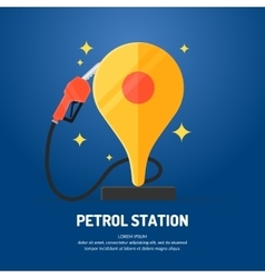 Bright advertising poster on the theme of gas vector