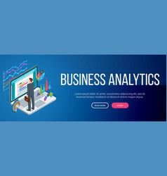 Business analysis banner vector
