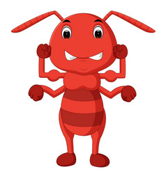 cartoon ant strong vector image