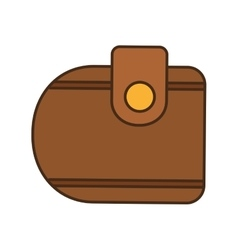 Cartoon wallet money travel vector