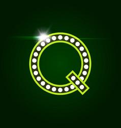Casino and resort letter q luxury letter vector