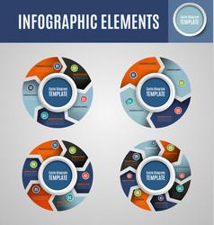 Circle infographics set vector