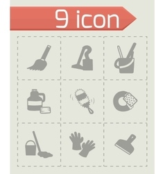 Clearning icon set vector
