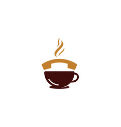 coffee call logo icon design vector image