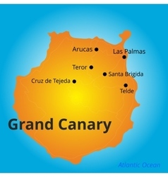 color map of Grand Canary vector image