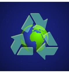 Colorful earth globe concept vector