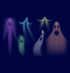 colorful shadows ghost swanky halloween ghost vector image