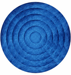 Concentric blue circles in mosaic vector
