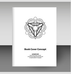 Cover diary or notebook hardcover - format a4 vector