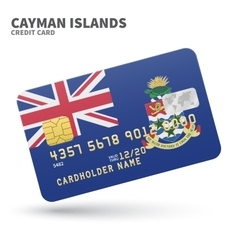 Credit card with Cayman Islands flag background vector
