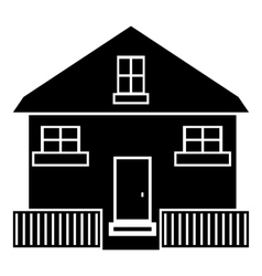 Cute house icon simple style vector image