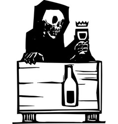 death and wine vector image