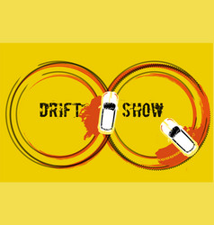 Drift show image vector