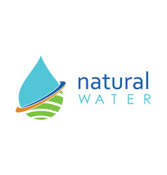 drop water natural logo vector image