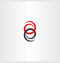 Eight number logotype 8 logo icon vector
