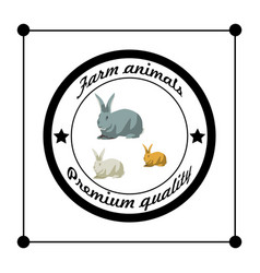 Farm animals premium quality silhouettes isolated vector