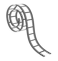film strip retro photograph and cinema element vector image