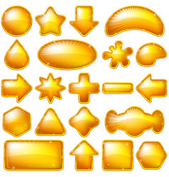 golden buttons set vector image