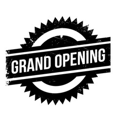 grand opening rubber stamp vector image