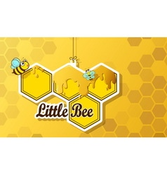 greeting card cute bee vector image