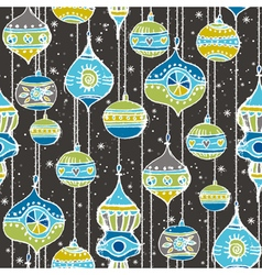 Grunge background with hand draw christmas balls vector