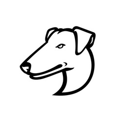 Head smooth fox terrier mascot side view vector