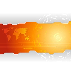 Hi-tech wallpaper template vector image