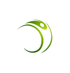 human character logo sign health care logo vector image
