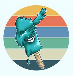 ice cream dabbing vector image