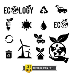 Icon set 003 Ecology icon collection vector