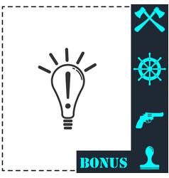 idea icon flat vector image