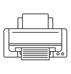 inkjet printer icon outline style vector image