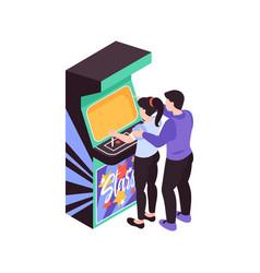 Isometric game machine icon vector