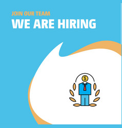 join our team busienss company employee we are vector image