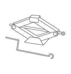 mechanical jackcar single icon in outline style vector image