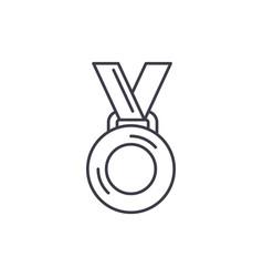 medal winner line icon concept medal winner vector image