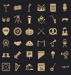 Meeting icons set simple style vector
