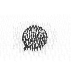 message people online global social network vector image