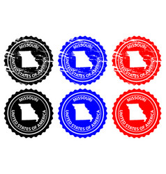 missouri rubber stamp vector image