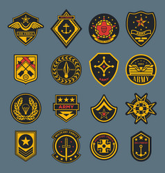 navy sign and army badge american air force tag vector image