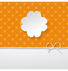 Orange background with a floral frame vector
