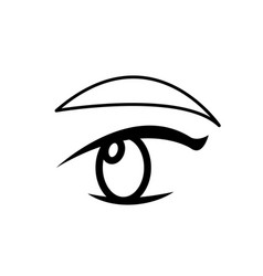 Outline with female eye and eyebrow vector