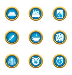 Pediatric icons set flat style vector